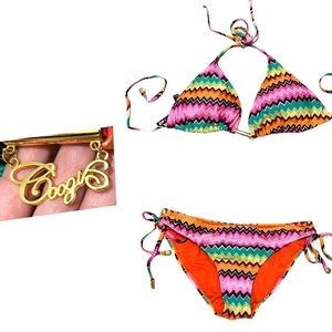 COOGI Women's Size XL Bikini Set Top & Bottom